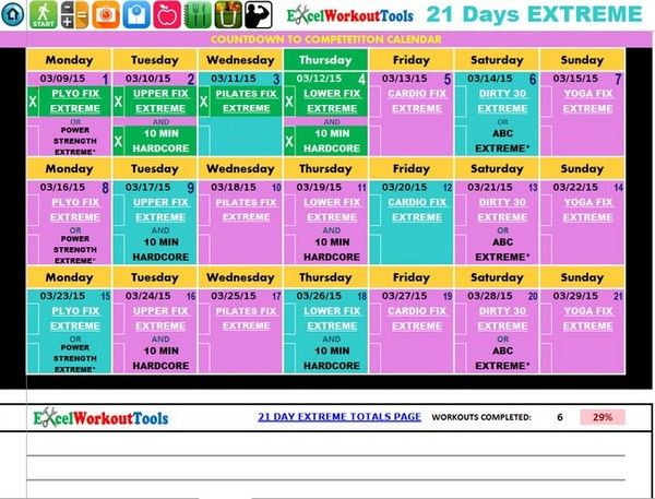 21 day fix excel spreadsheet