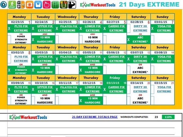 21 day fix meal plan template excel