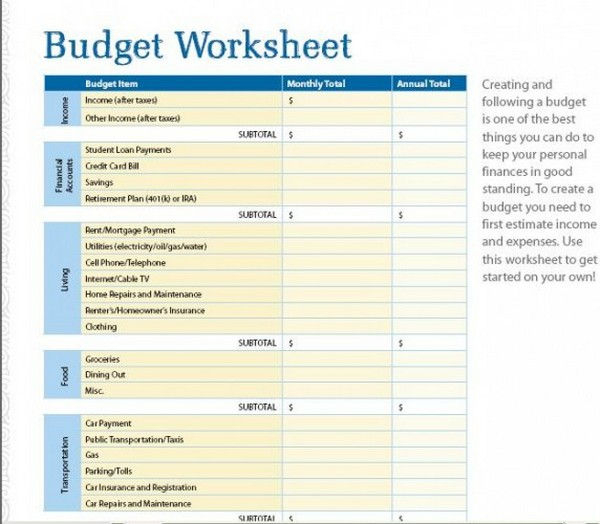 You Need A Budget Excel Spreadsheets