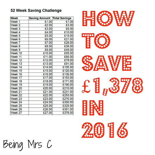 52 week savings plan spreadsheet 2014