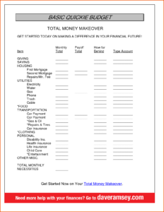 Dave Ramsey Allocated Spending Plan Excel Spreadsheet_7