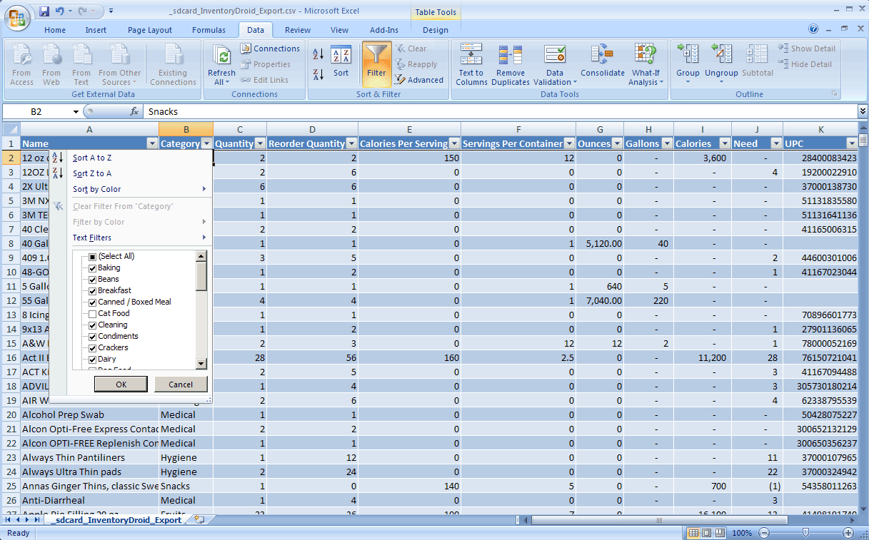Download Food Pantry Inventory Spreadsheet