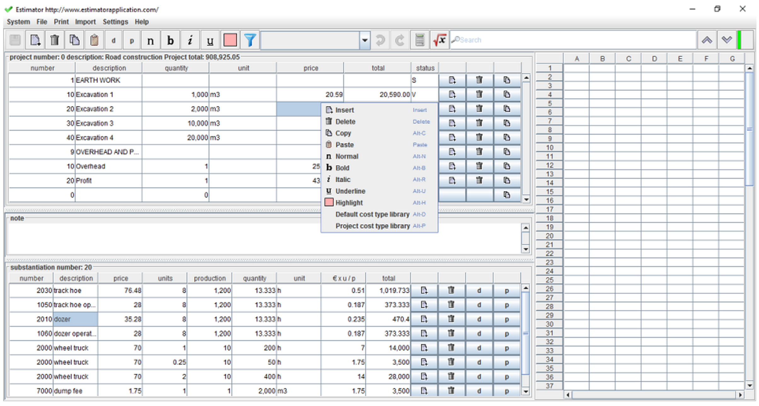 Download building cost estimator spreadsheet
