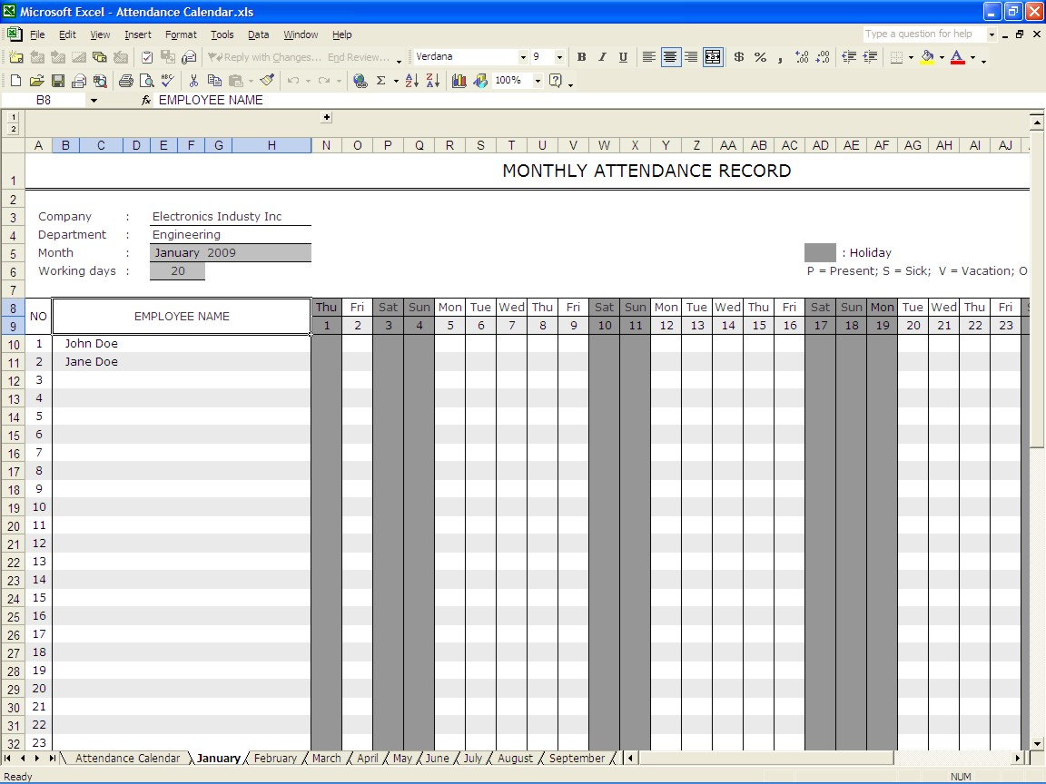 employee vacation accrual template in excel