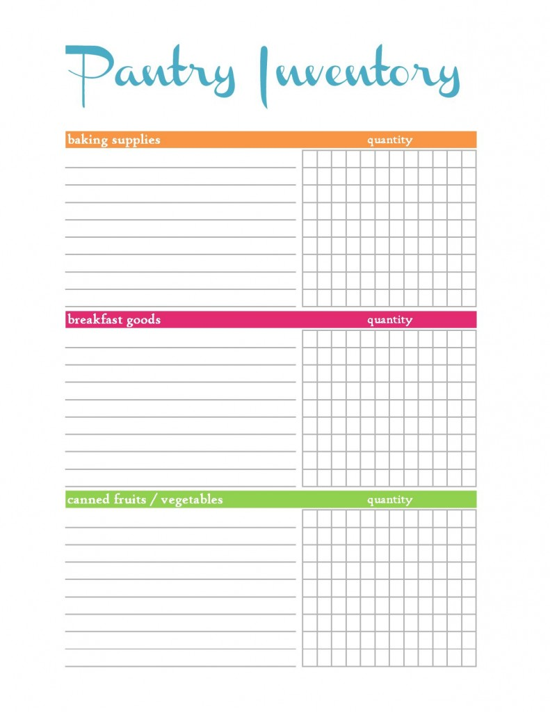 Food Pantry Inventory Spreadsheet Templates
