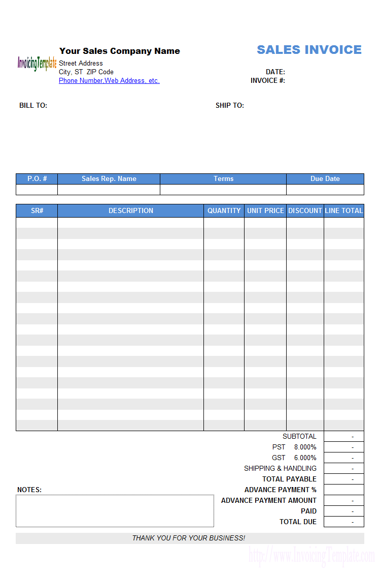 Free Create Invoices From Excel Spreadsheet Templates