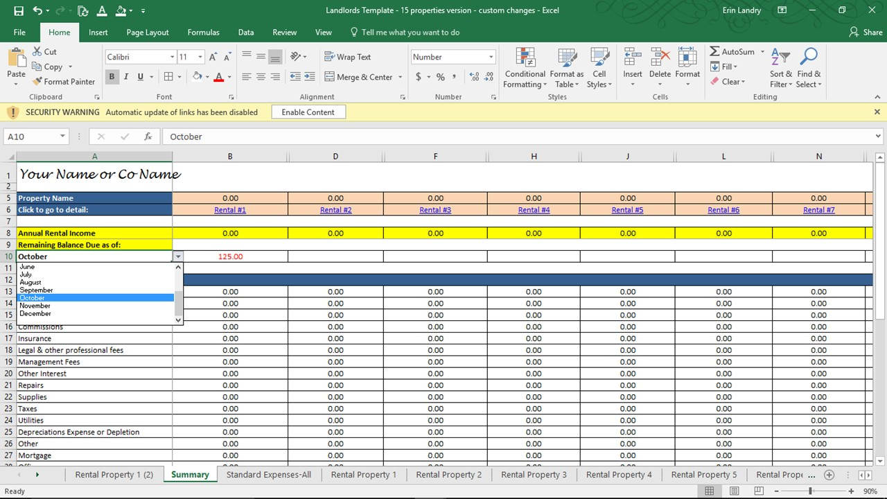 Real Estate Math Formulas Spreadsheet Laobing Kaisuo