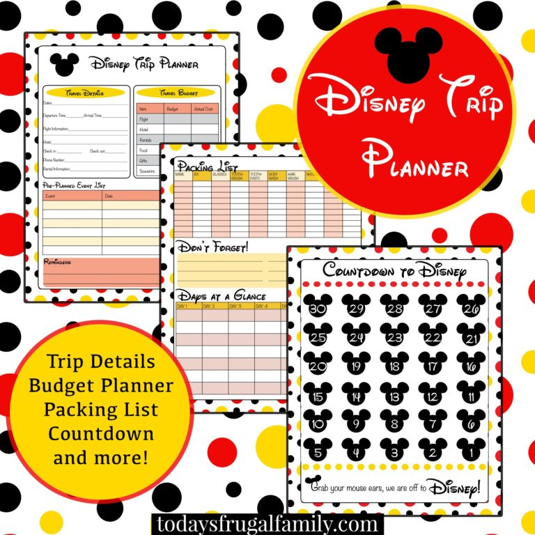 Free disney planning spreadsheet 2017