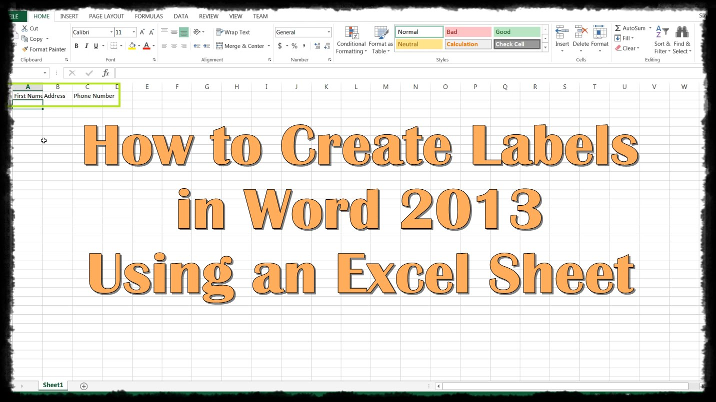 Free download Labels Are Used in a Spreadsheet To
