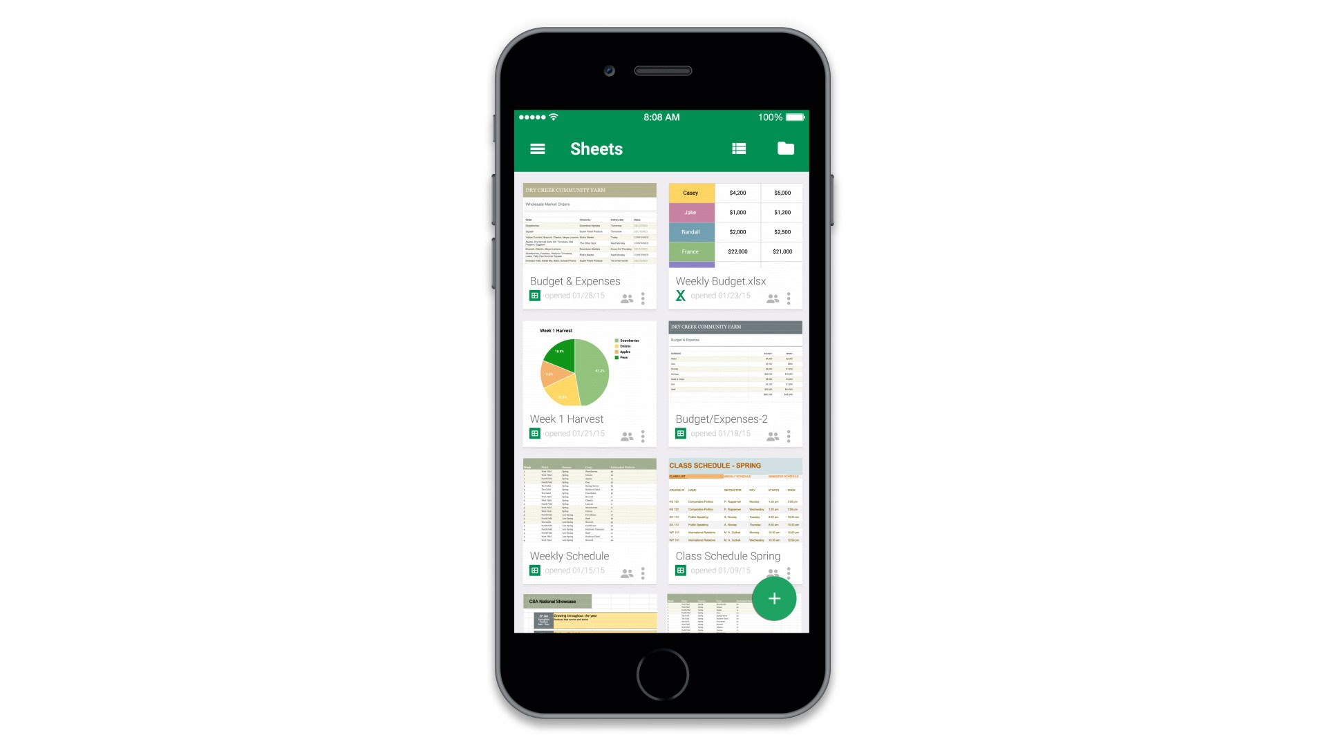 Google Spreadsheet On Iphone
