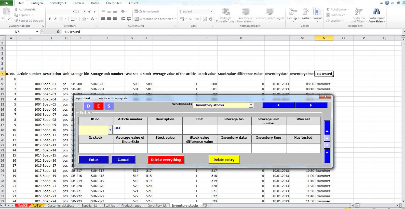 How To Make A Simple Inventory Spreadsheet
