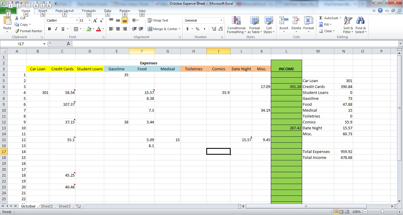 How To Make A Spreadsheet For Monthly Bills_4