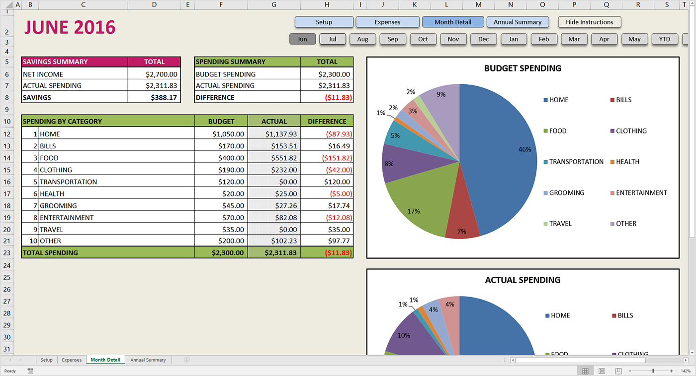 How To Make A Spreadsheet For Monthly Bills_65