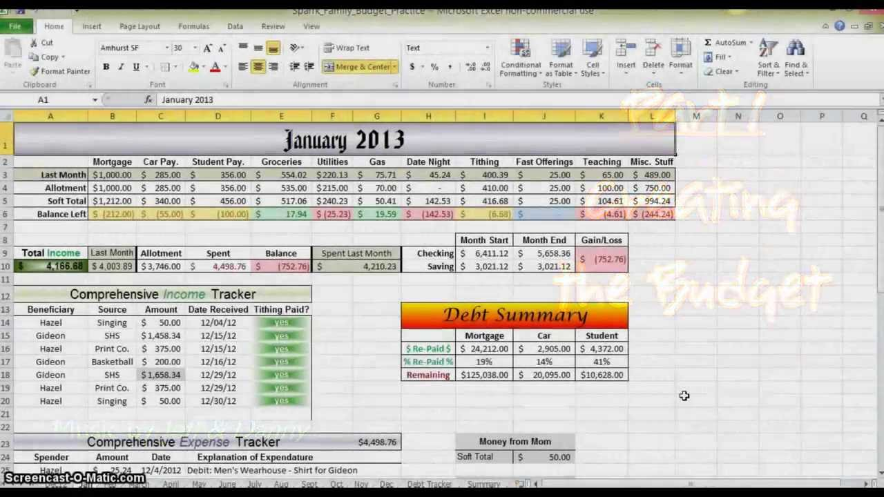 How To Make A Spreadsheet For Monthly Bills_76