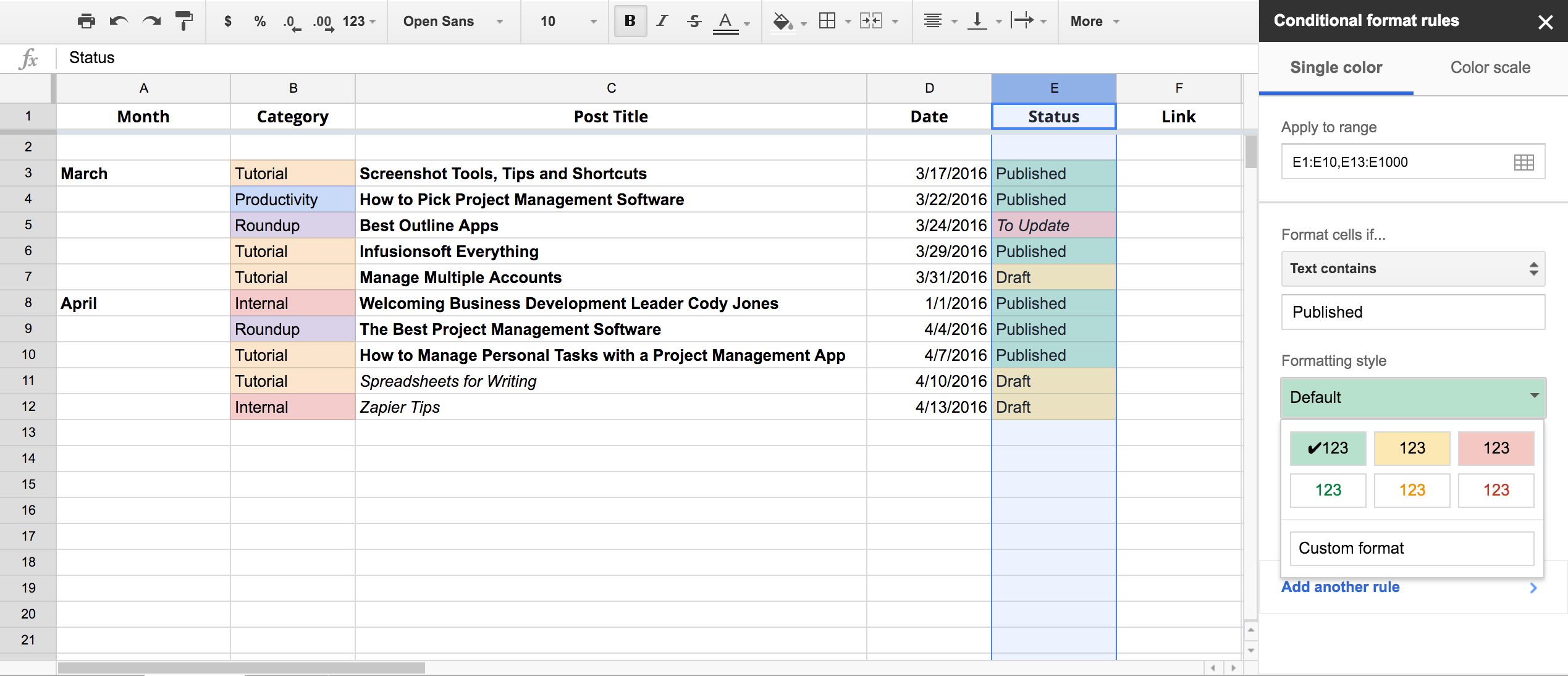 How To Make A Table In Google Spreadsheet