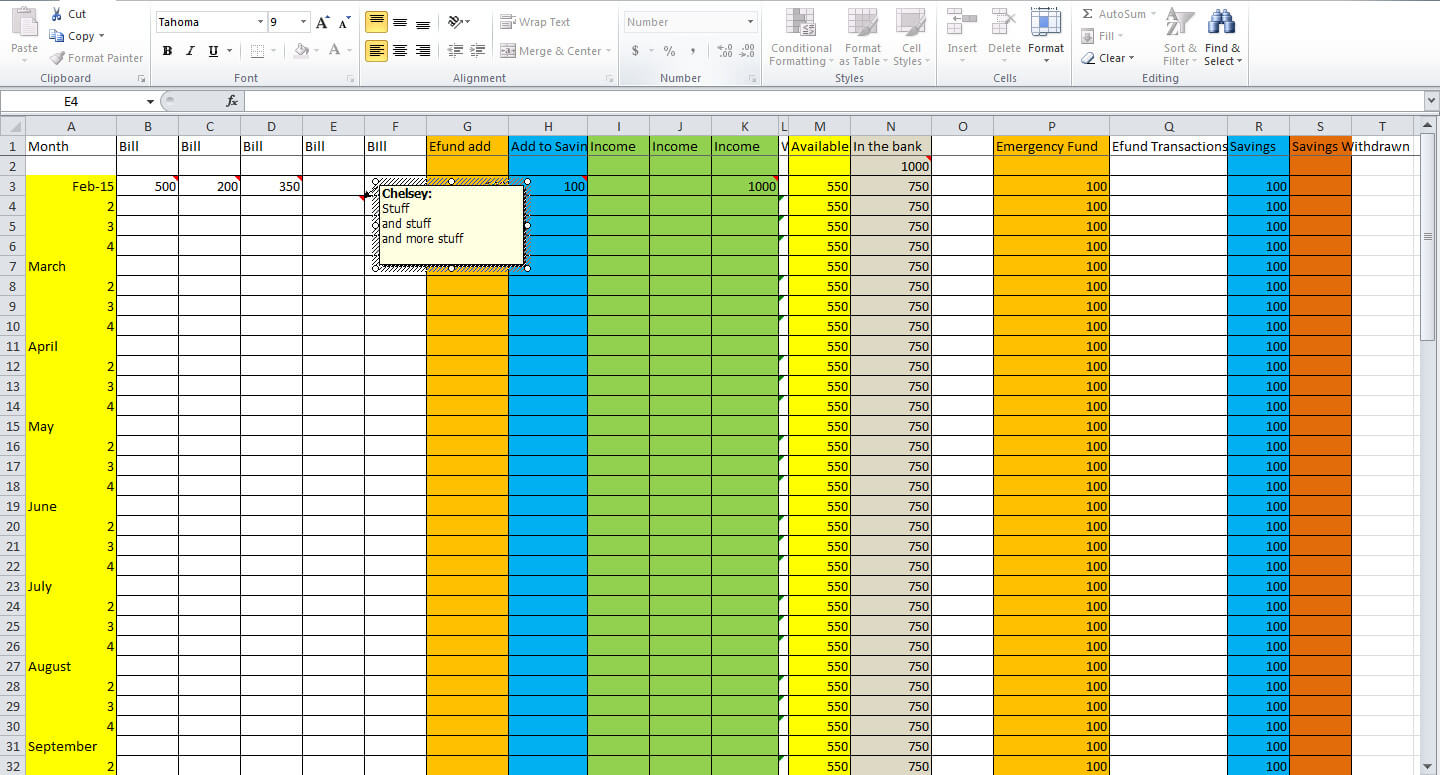 How To Set Up A Monthly Budget Spreadsheet templates