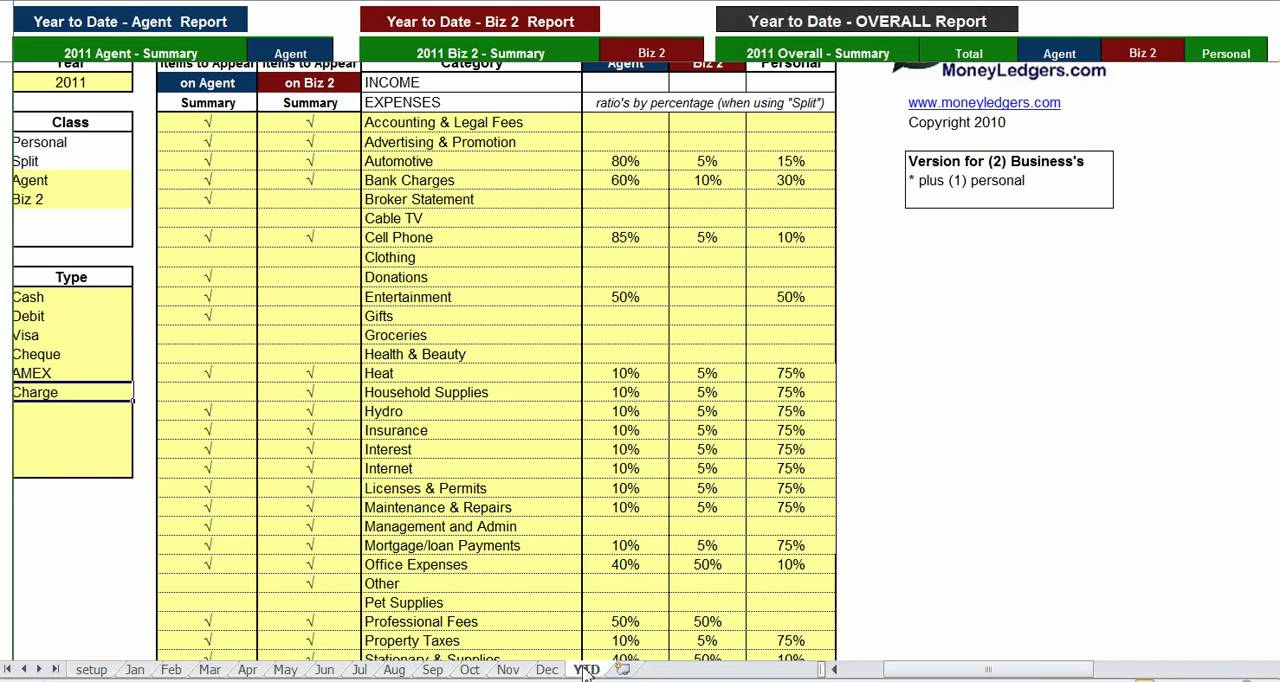 Real Estate Agent Expenses Spreadsheet Templates Free