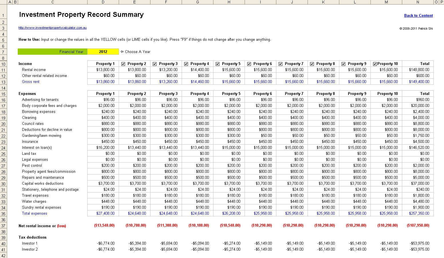 Real Estate Math Formulas Spreadsheet