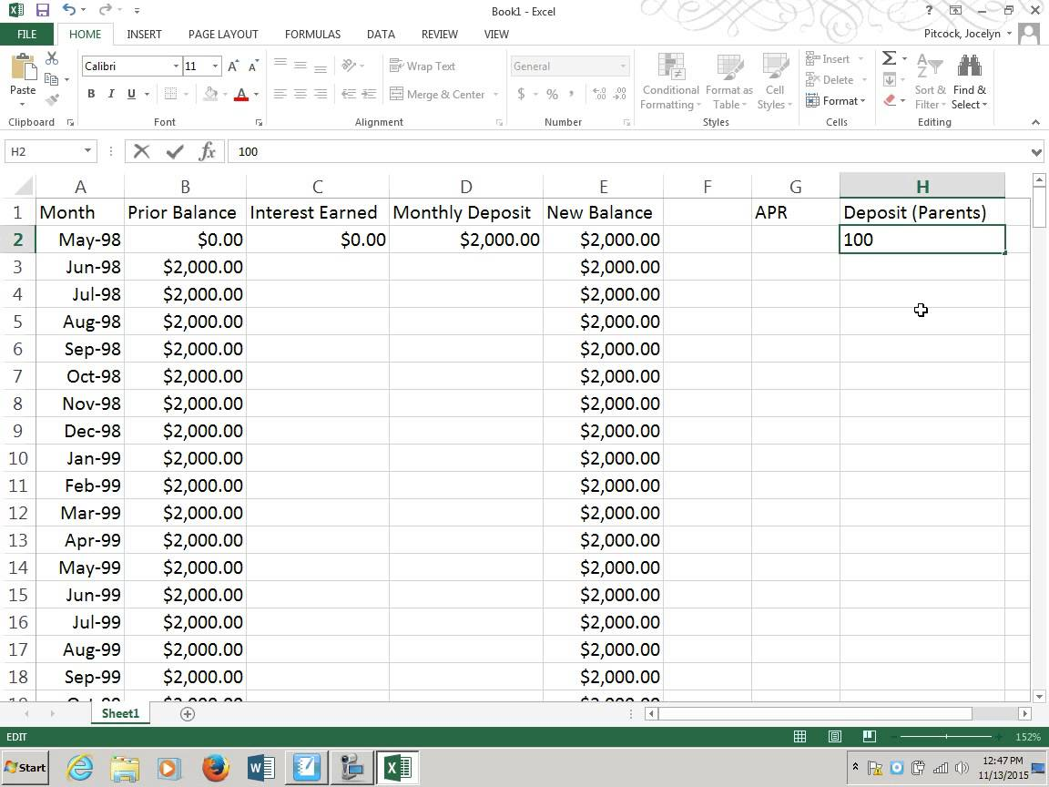 Retirement Savings Spreadsheet templates free