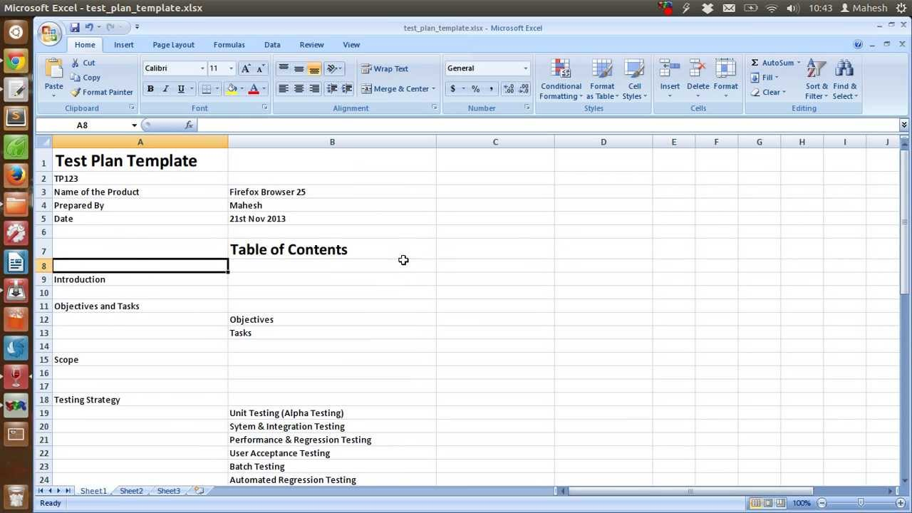 Software Testing Spreadsheet Template download