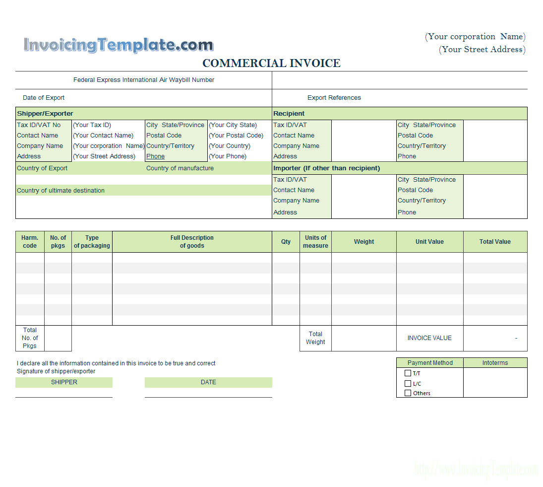 Create Invoices From Excel Spreadsheet