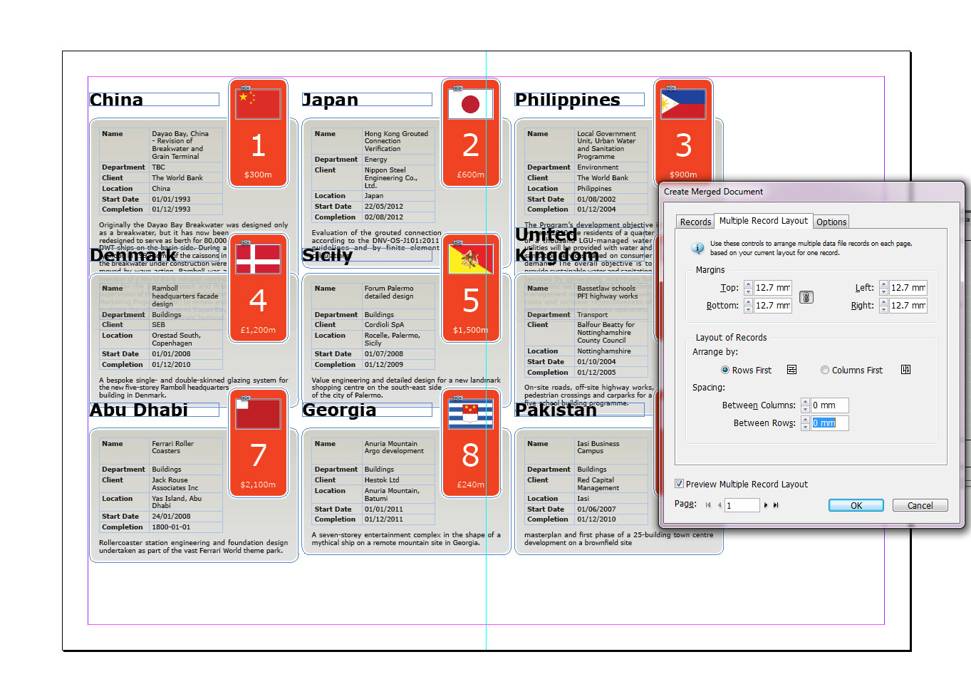 Templates Indesign Spreadsheet Free