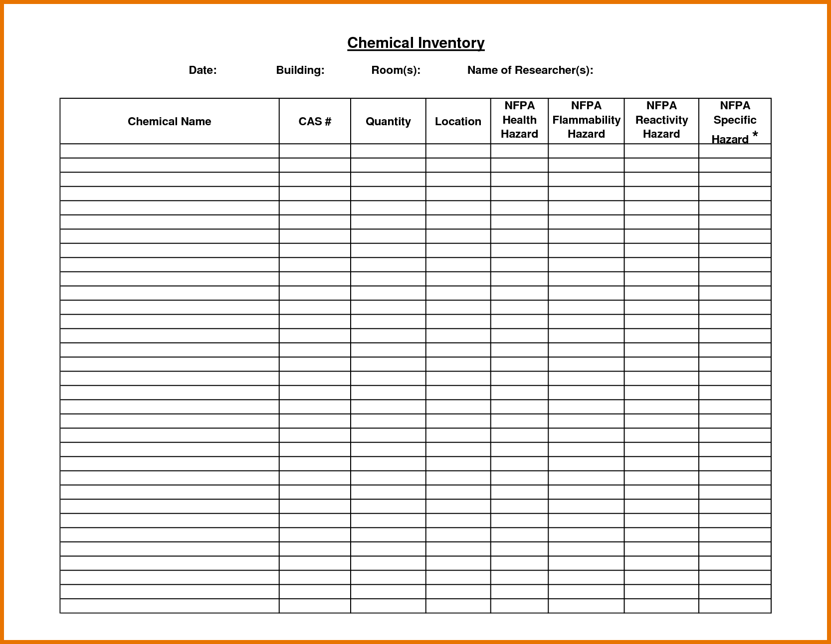 Excel Spreadsheet For Warehouse Inventory