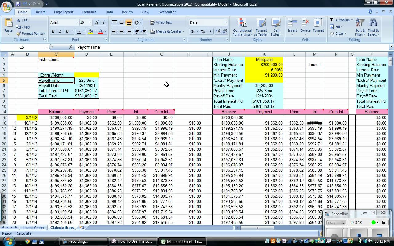 amortization schedule excel spreadsheet