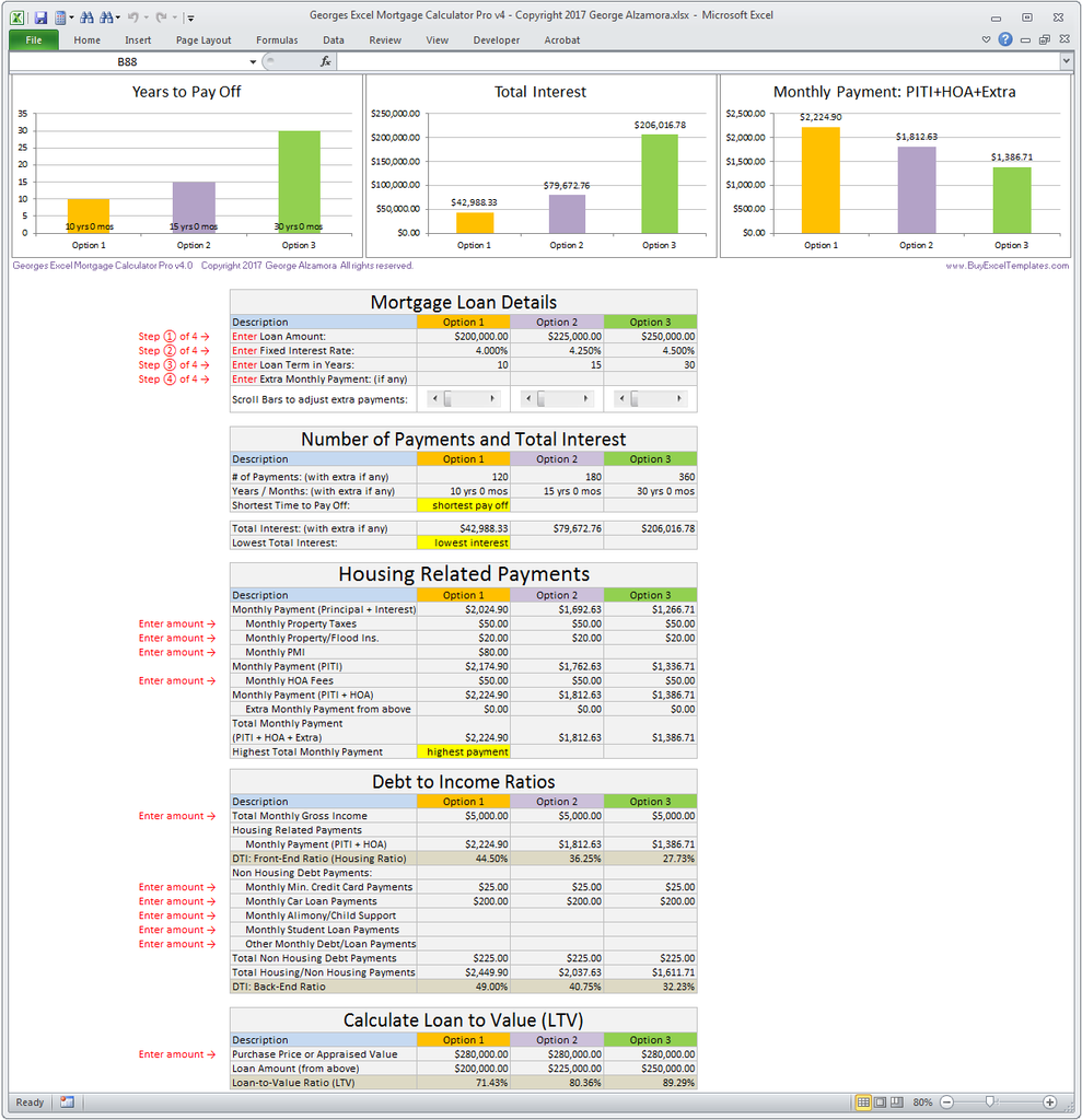 amortization schedule with extra payments spreadsheet