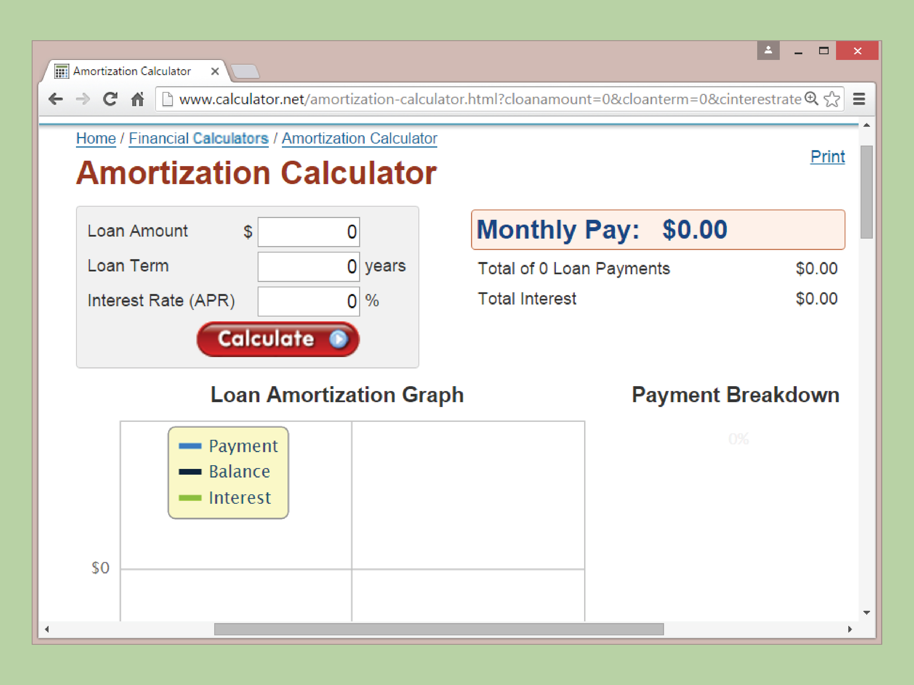auto loan amortization schedule templates