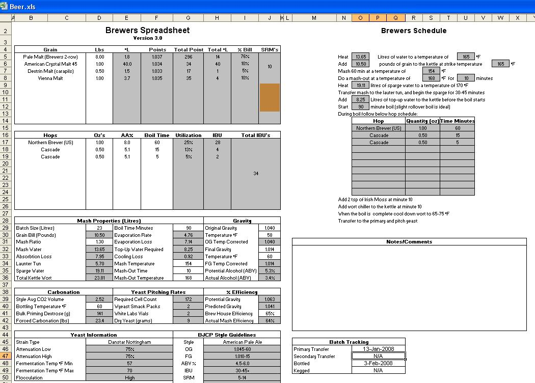 bar stocktake spreadsheet