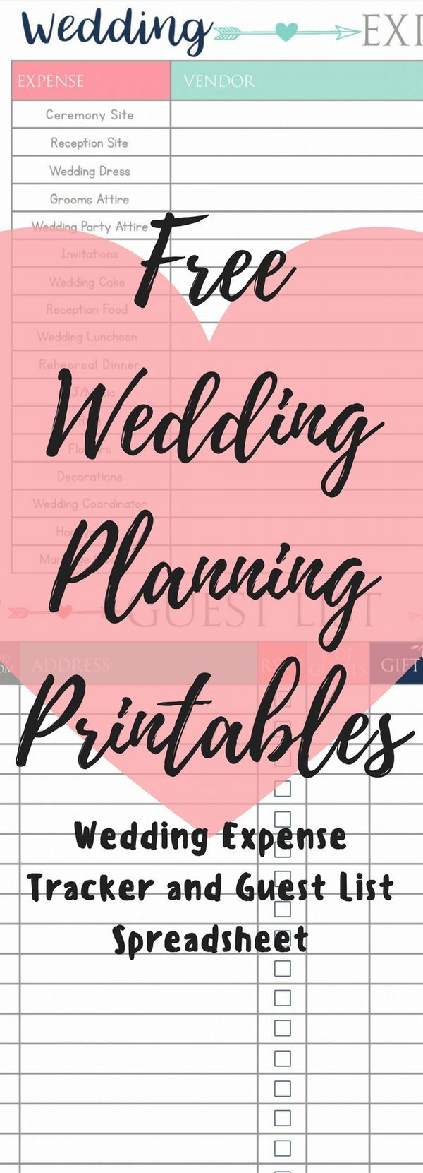 best wedding guest list spreadsheet download