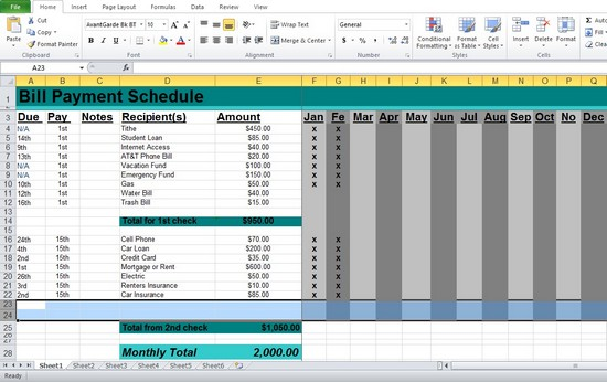 bill pay schedule spreadsheet (2)