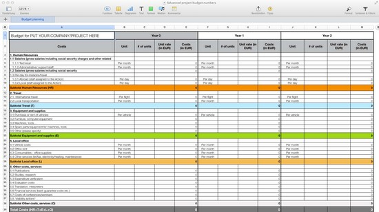 budget spreadsheet ipad
