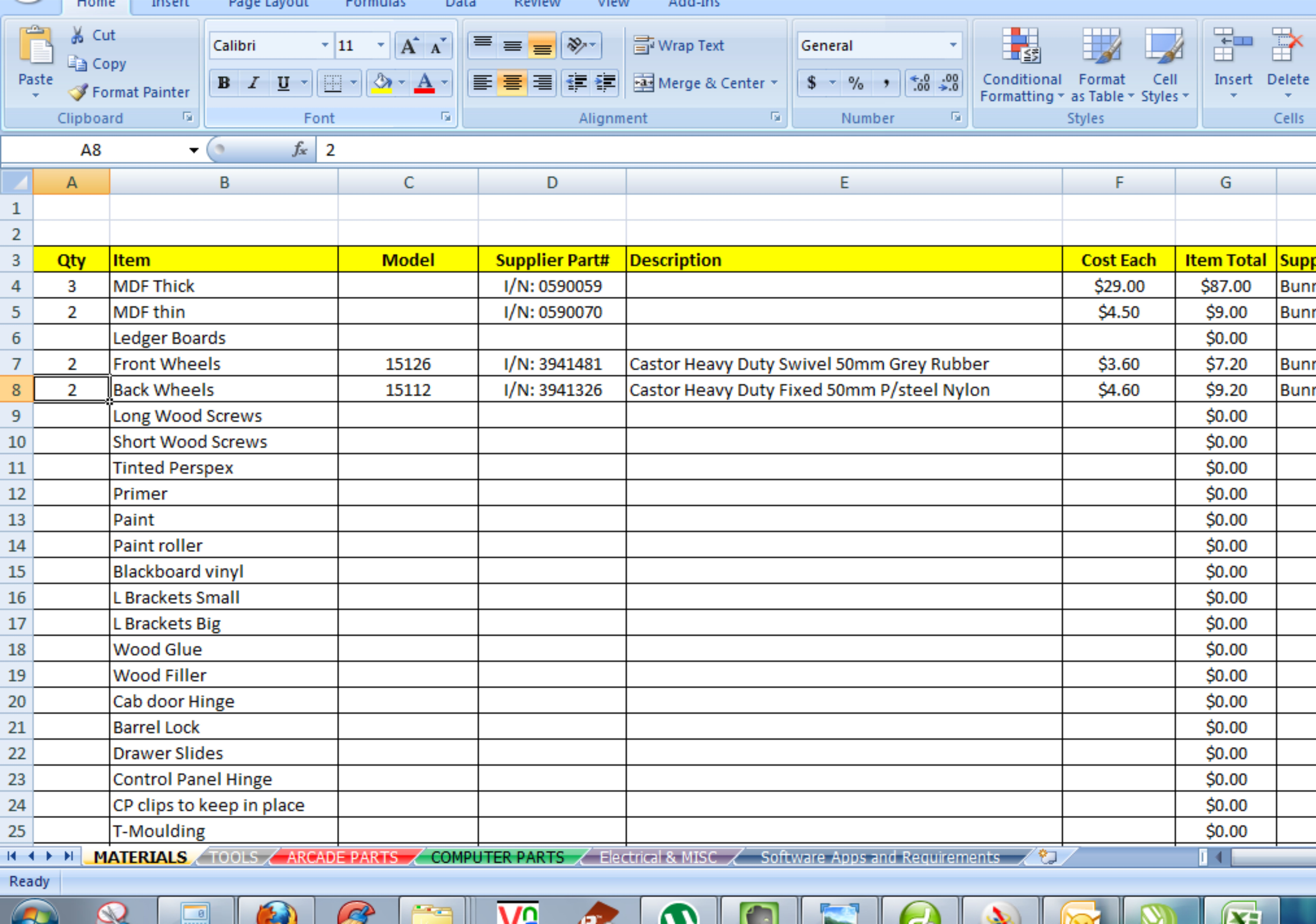 building estimation and costing excel sheet