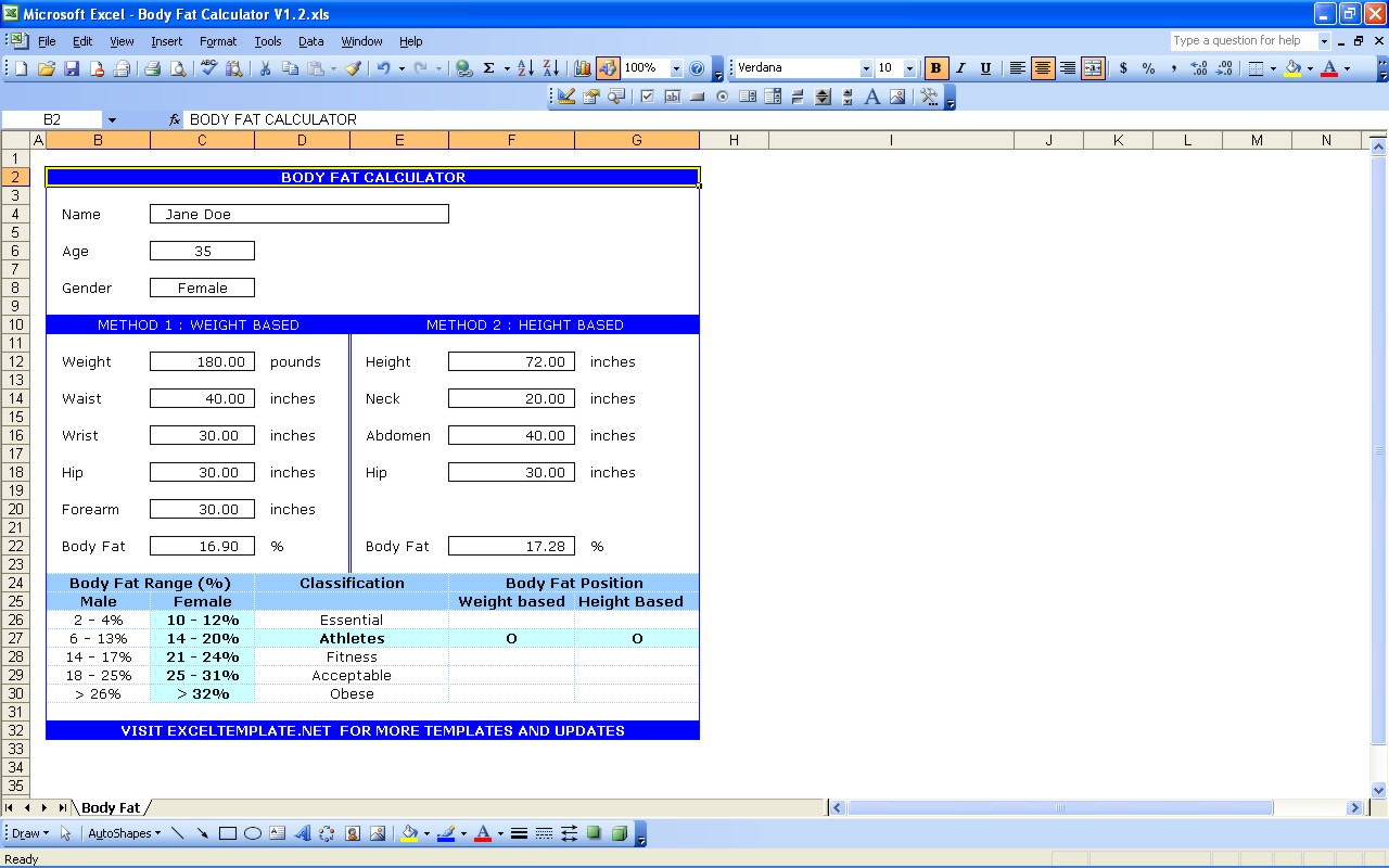calorie counter excel spreadsheet free download