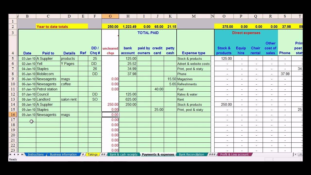 cattle inventory spreadsheet download