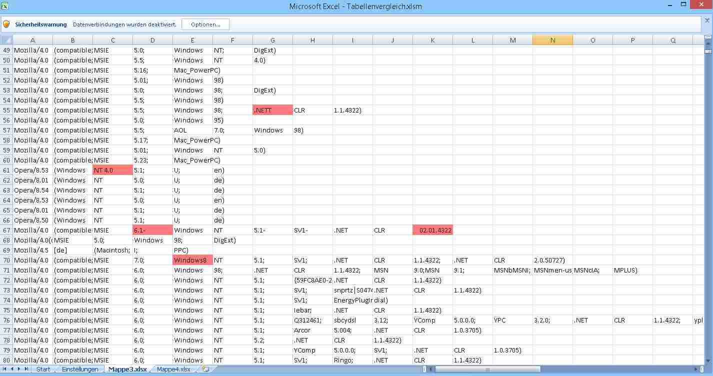 compare 2 excel files 2013