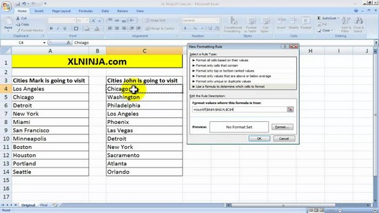 compare two excel sheets and highlight differences vba