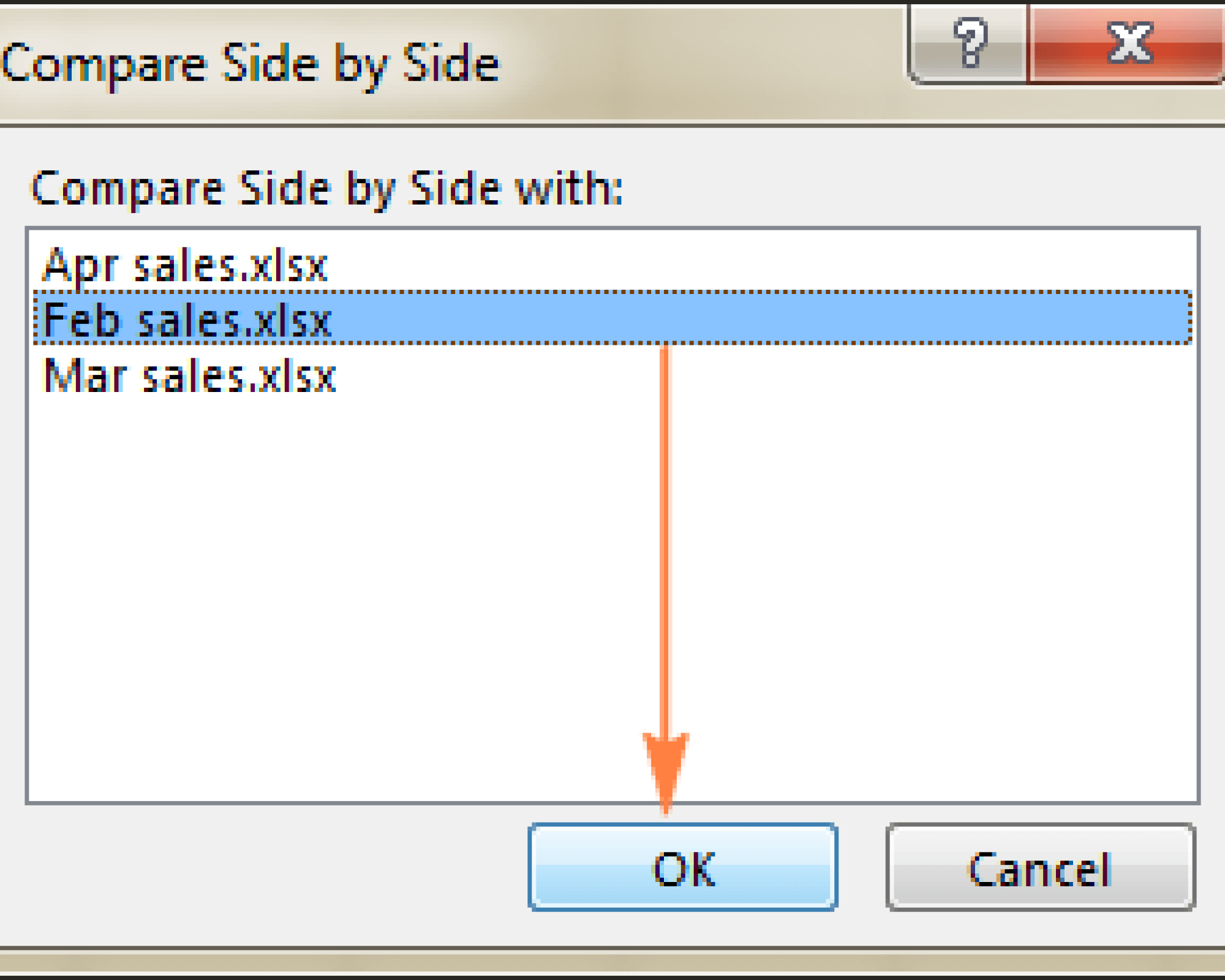compare two excel spreadsheets 2010
