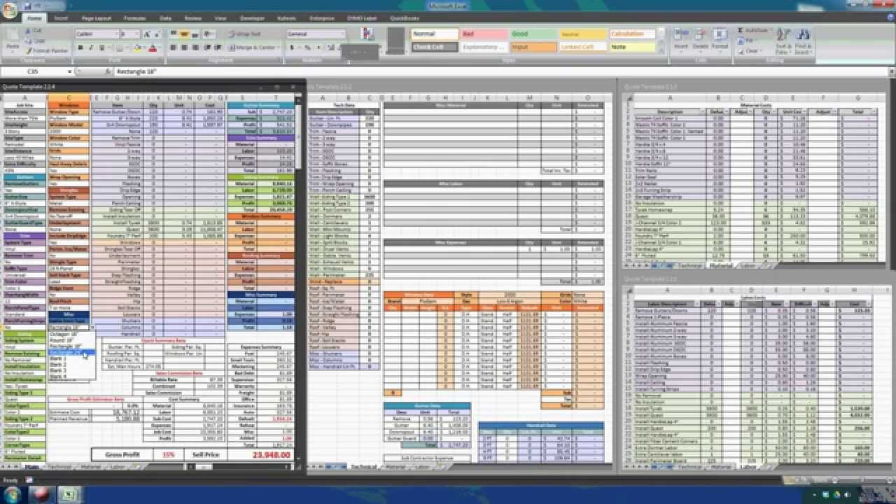 construction estimating excel templates free