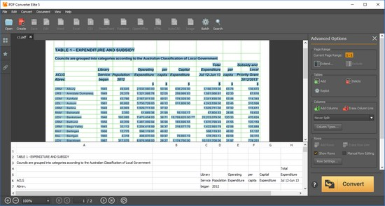 convert pdf to excel spreadsheet with adobe