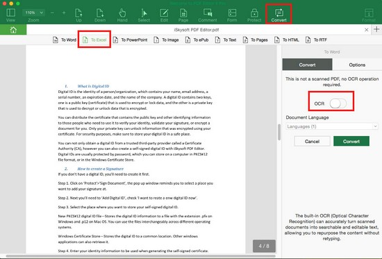 convert scanned pdf to excel spreadsheet online
