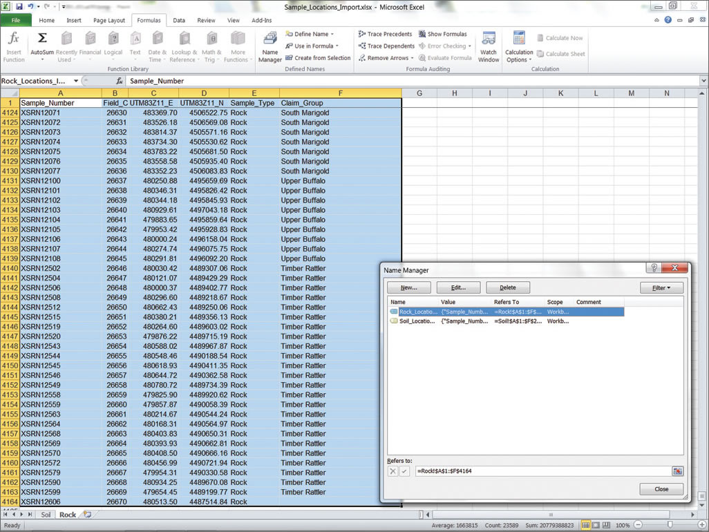 copy excel data into access