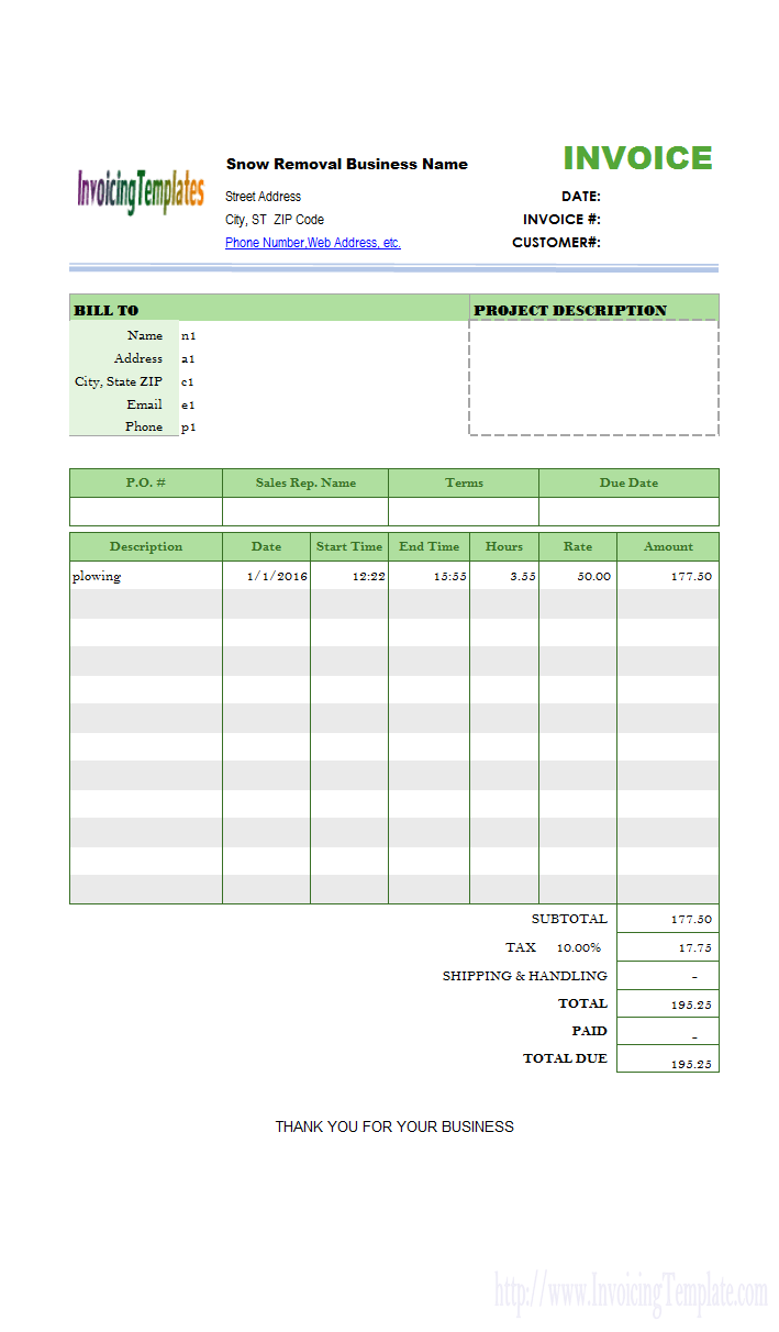 create an invoice from excel spreadsheet