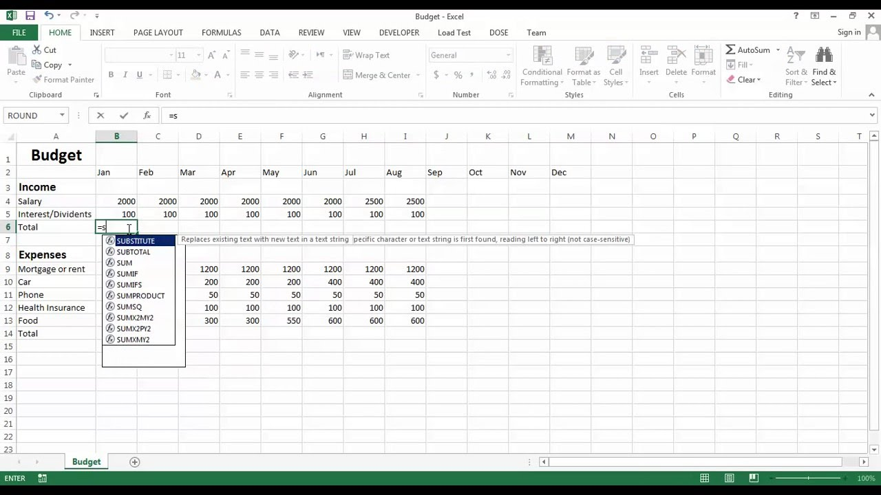create your own budget spreadsheet free download