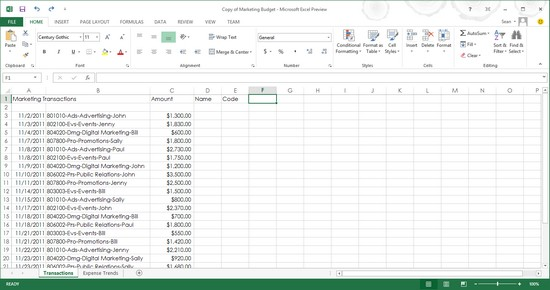 creating a chart in excel 2013