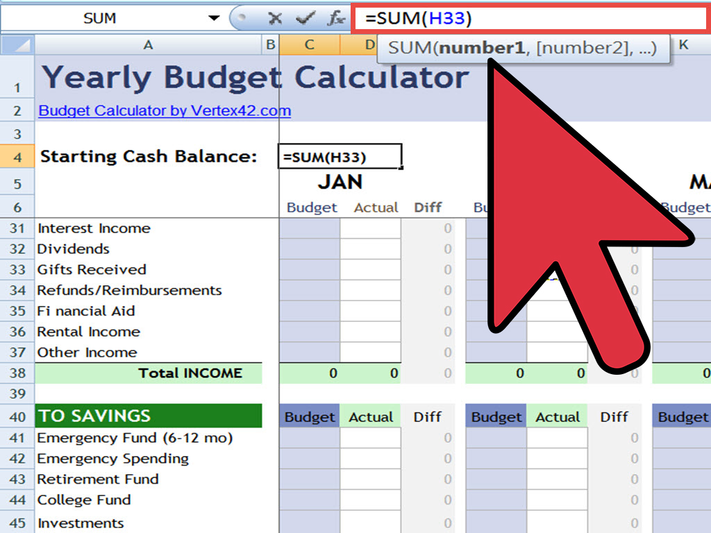 creating an excel spreadsheet with formulas