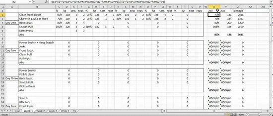 crossfit programming excel spreadsheet