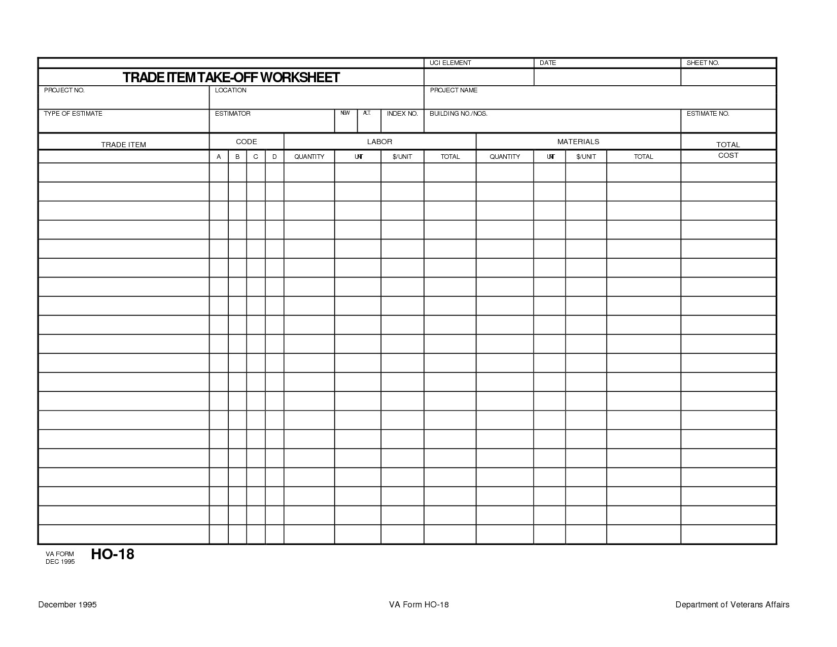 download free concrete quantity takeoff excel spreadsheet